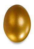 Golden egg, concept of Making Money. On white Royalty Free Stock Images