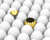 The golden egg Royalty Free Stock Images