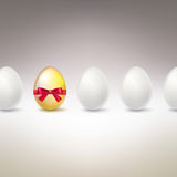 Golden Egg. Difference, uniqueness concept image. Royalty Free Stock Image