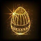 Golden egg for Happy Easter celebration. Royalty Free Stock Images