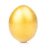 Golden egg isolated Royalty Free Stock Photos