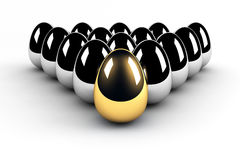 Golden egg leadership Stock Image
