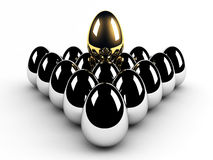 Golden egg leadership concept Royalty Free Stock Photos