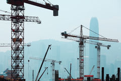 Under Construction works of the Hong Kong section of Guangzhou Shenzhen Hong Stock Photos