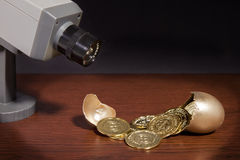 Golden Egg Security Stock Images
