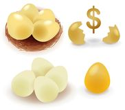 Golden Egg Stock Photography