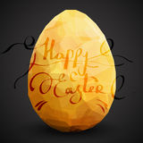 Golden egg. Vector illustration   on black background Royalty Free Stock Image