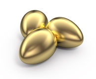 Golden eggs Stock Photo