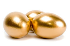 Golden eggs. Stock Images