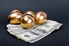 Golden eggs. Royalty Free Stock Images