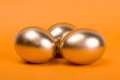 Golden eggs. Stock Photo