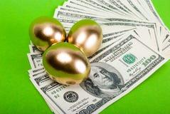 Golden eggs. Stock Image