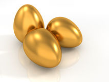 Golden eggs Royalty Free Stock Image