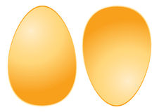Golden Eggs. Designed by illustration Royalty Free Stock Photo