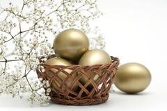 Golden eggs Royalty Free Stock Photos