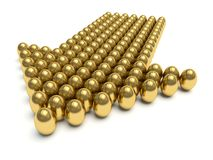 Golden eggs. Stock Photography