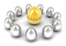 Golden eggs array Royalty Free Stock Image