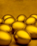 Golden Eggs Background Stock Photo