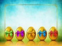 Golden Eggs Background Royalty Free Stock Photos