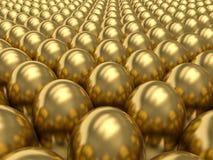 Golden eggs. Royalty Free Stock Image