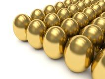 Golden eggs. Stock Images