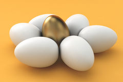 Golden Eggs, finance concept Royalty Free Stock Image