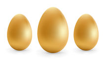 Golden eggs happy Easter.  + EPS8 Stock Image