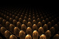 Golden eggs horizon Royalty Free Stock Photos