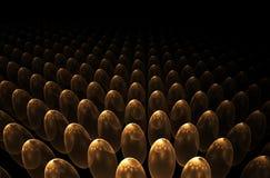 Golden eggs horizon Royalty Free Stock Photos