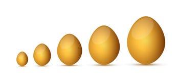Golden eggs illustration design Royalty Free Stock Photos