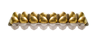 Golden Eggs  in package Stock Images
