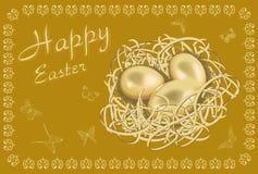 Golden eggs Stock Photos
