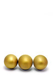 3 Golden Eggs Royalty Free Stock Image