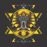 Golden egypt kong royalty free illustration