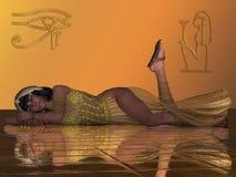 Golden Egyptian Priestess Stock Photos