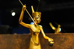 Golden egyptian Warrior Stock Images