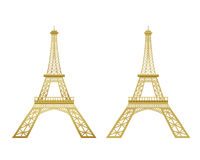 Golden Eiffel Tower vector Stock Photos