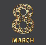 The golden eight of the circles. March 8. Vector illustration.  Royalty Free Stock Photography