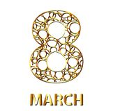 The golden eight of the circles. March 8. Vector illustration.  royalty free illustration