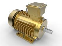 Golden electric engine Stock Photos