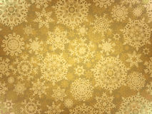 Golden elegant christmas template. EPS 8. Vector file included Stock Photography