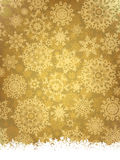 Golden elegant christmas template. EPS 8. Vector file included Royalty Free Stock Images