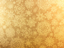 Golden elegant christmas template. EPS 8. Vector file included Stock Photos