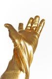 Golden elegant glove Stock Images