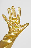 Golden elegant glove. On the white background Royalty Free Stock Images