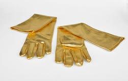 Golden elegant gloves Stock Image