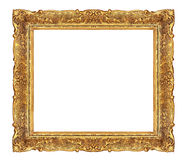 Golden elegant picture frame Stock Image