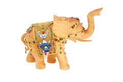 Golden elephant Stock Images