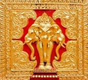 Golden elephant statue Stock Photos