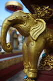 Golden elephant statuette Royalty Free Stock Photography